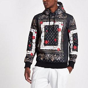 Black Criminal Damage print hoodie