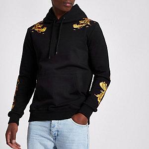 Black Criminal Damage embroidered hoodie