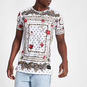 Criminal Damage white baroque print T-shirt