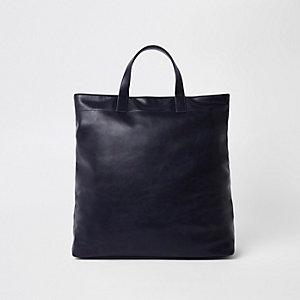 Marineblauwe handtas van imitatieleer