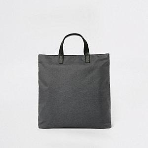 Graue Tote Bag aus Leinen