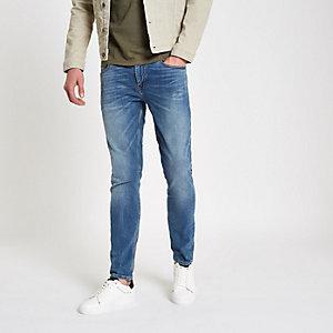 Sid – Jean skinny bleu moyen usé