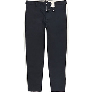 Big & Tall navy skinny taped pants