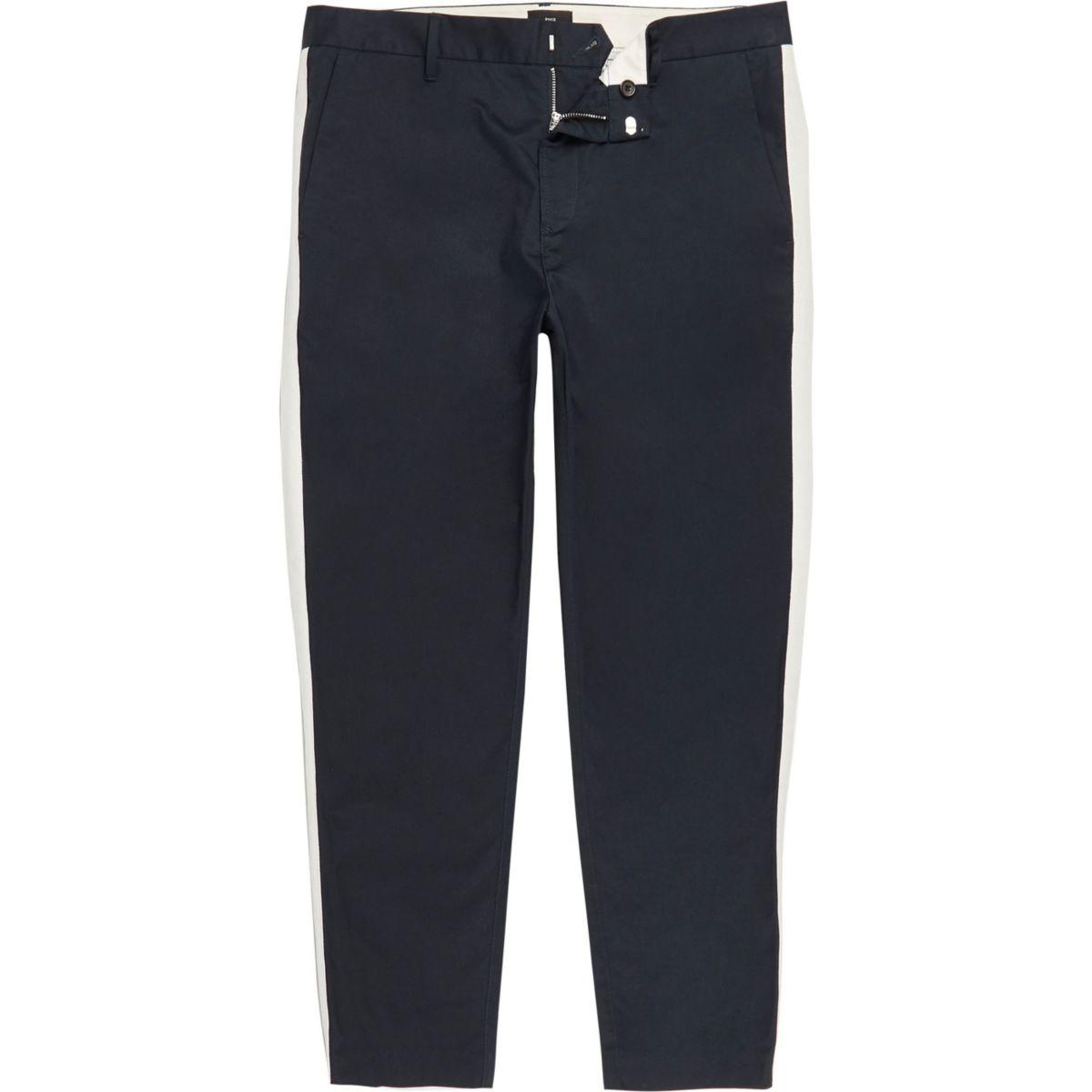 Big & Tall – Marineblaue Skinny Hose
