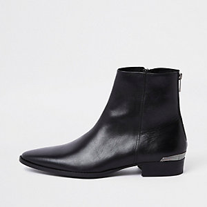 RI 30 black leather chelsea boots