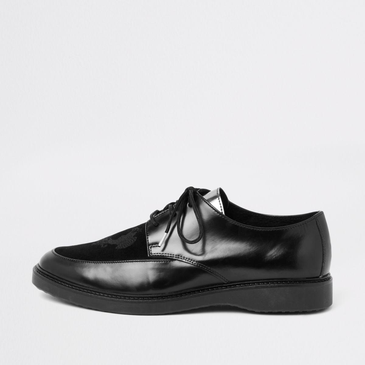 RI 30 black leather creeper shoes
