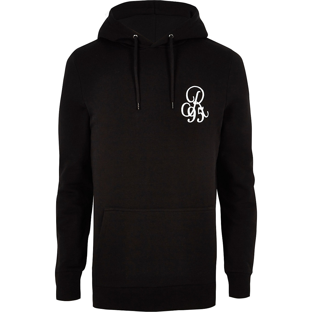 Big and Tall black slim fit hoodie