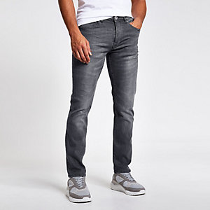 Grey wash fade Dylan slim fit jeans