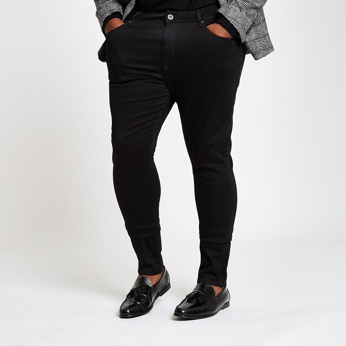 Big and Tall black super skinny jeans