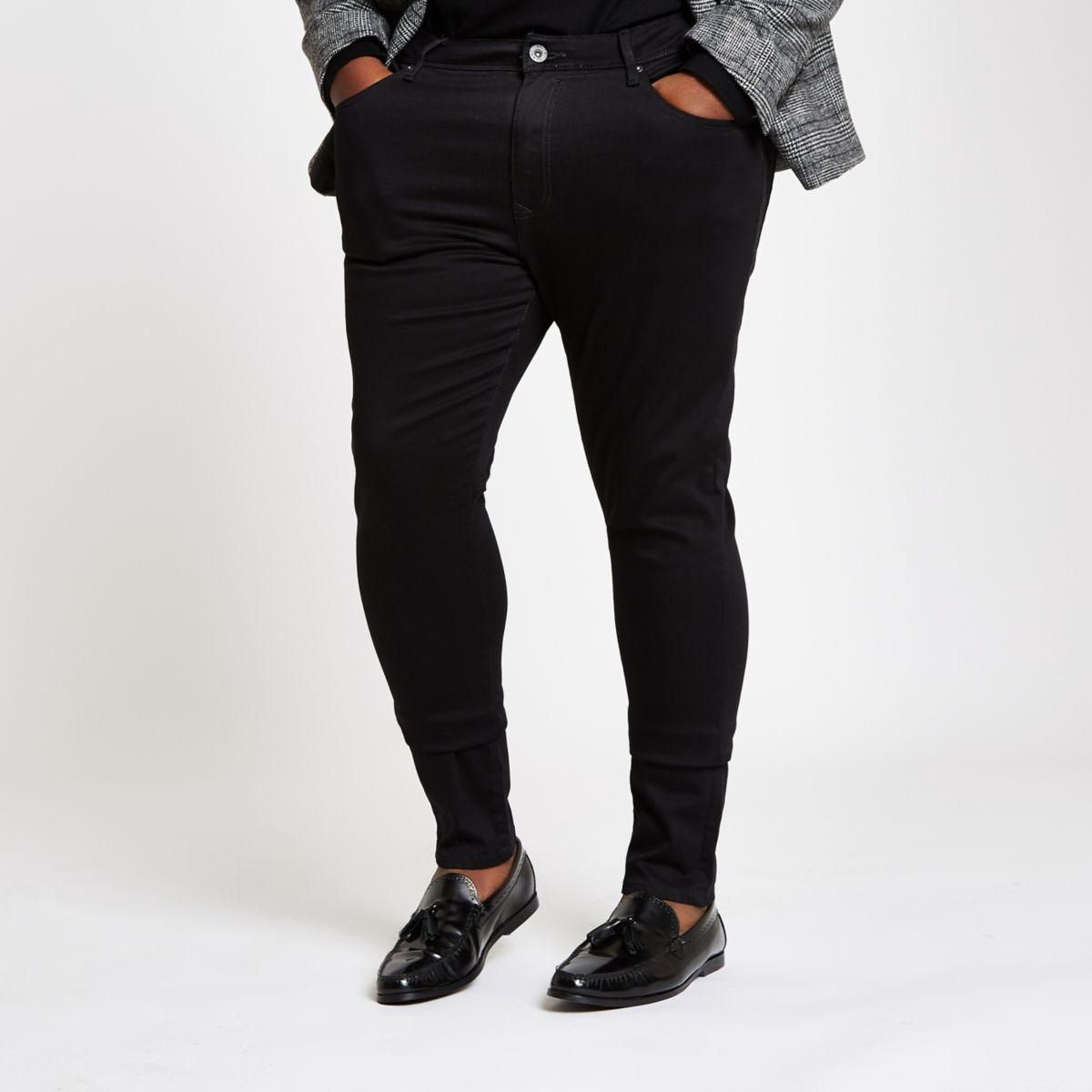 Big & Tall black super skinny jeans