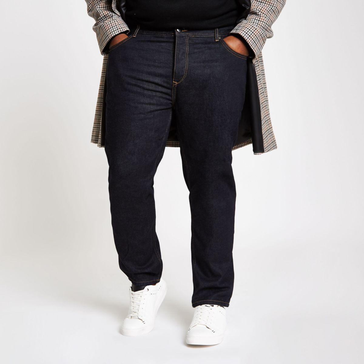 Big & Tall dark blue tapered jeans
