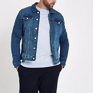 Big and Tall - Blauw denim jack