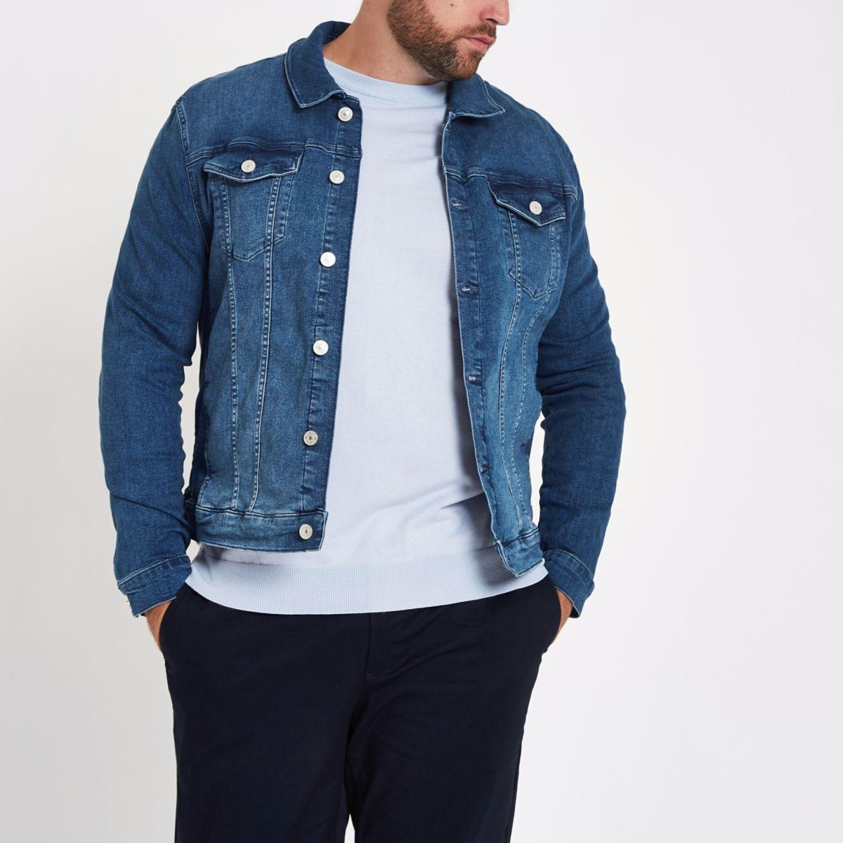 Big & Tall blue denim jacket