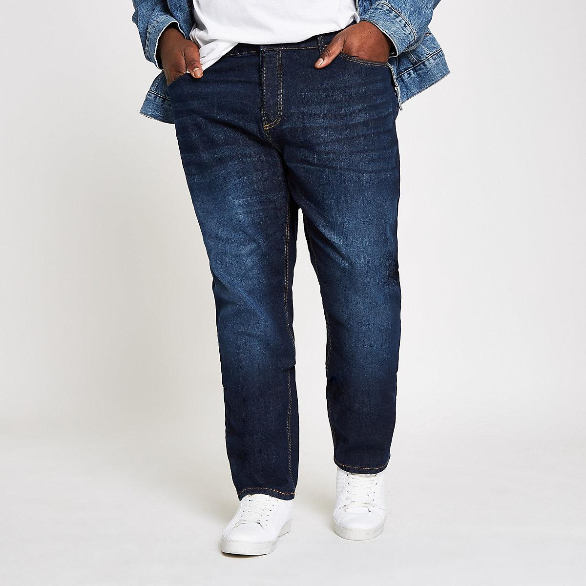 Big and Tall  dark blue slim fit jeans