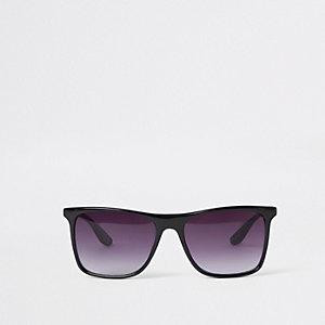 Zwarte retro zonnebril met kunststof frame