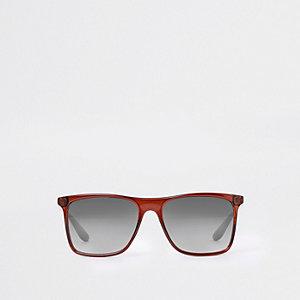 Braune quadratische Sonnenbrille