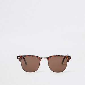 Brown tortoise shell retro sunglasses