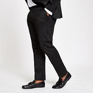 Big and Tall – Schwarze Skinny Anzughose