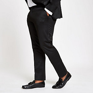 Big and Tall - Zwarte skinny pantalon