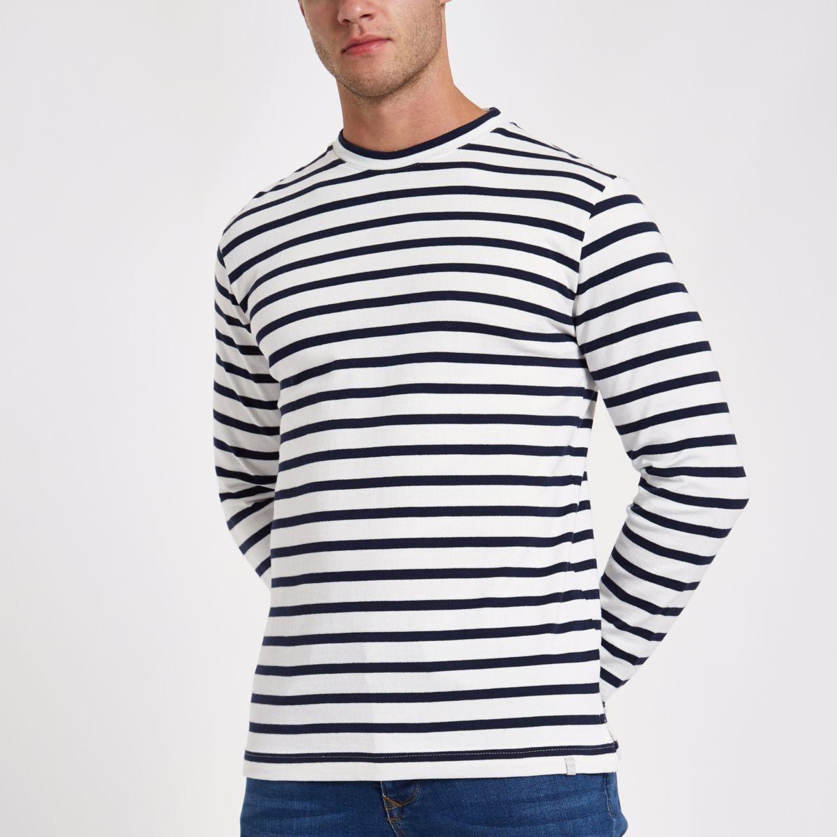Minimum navy stripe long sleeve top