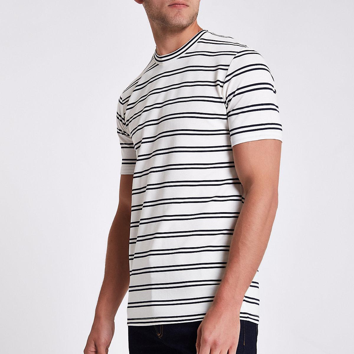 Minimum white stripe T-shirt