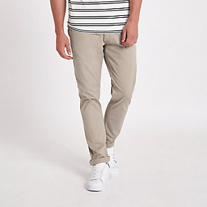 Minimum bruine slim-fit chino