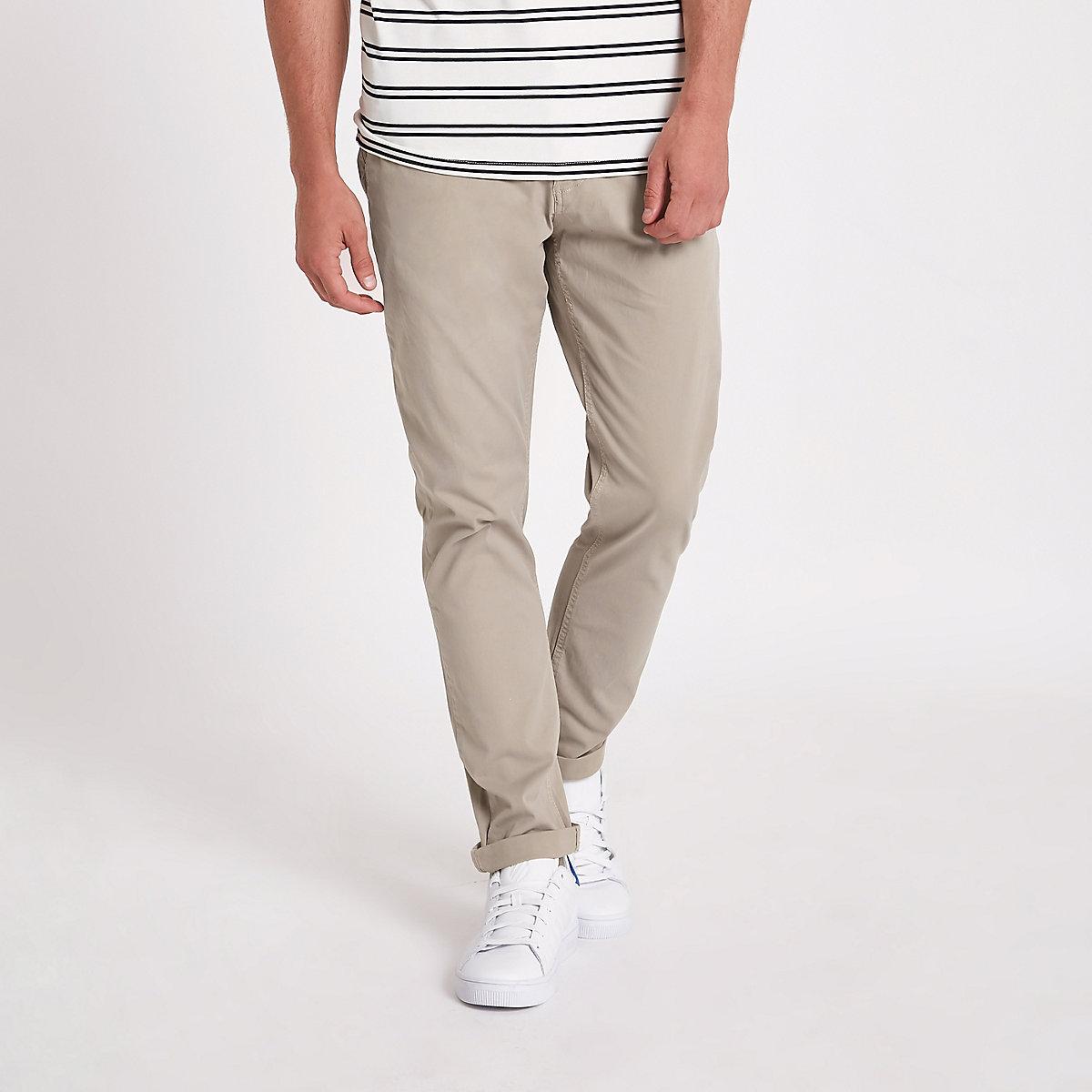Minimum brown slim fit chino pants