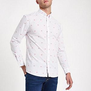 Minimum – Weißes Hemd mit Print