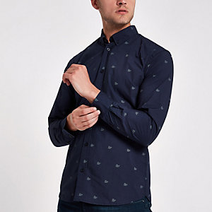 Minimum navy print shirt