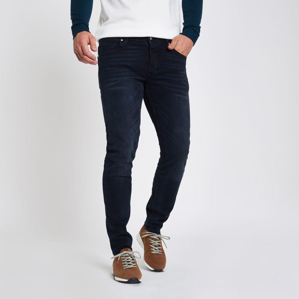Dark blue skinny fit denim jeans