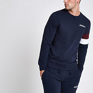 Jack & Jones navy crew neck sweatshirt