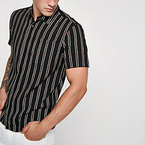 Bellfield black stripe short sleeve shirt