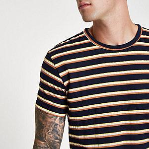 Bellfield – Marineblaues, gestreiftes T-Shirt