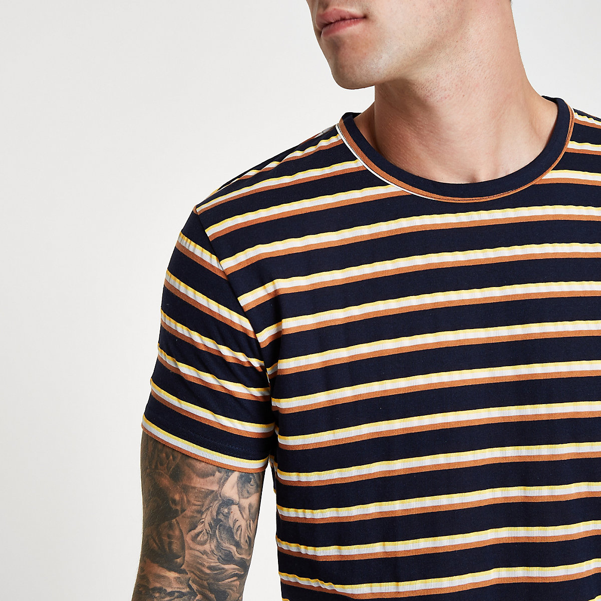 Bellfield navy stripe T-shirt