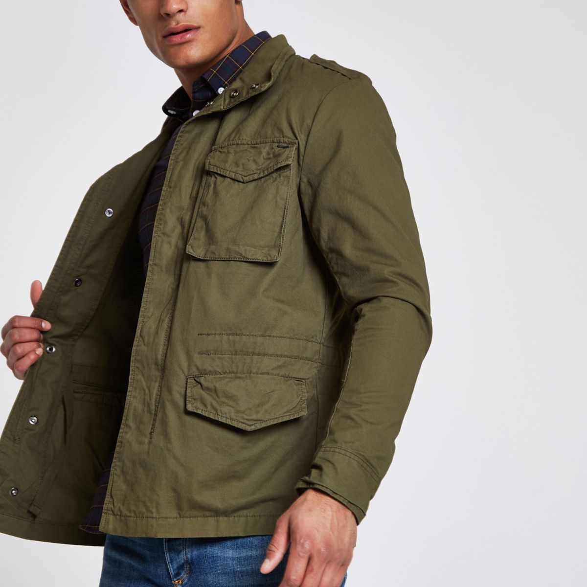 Jack & Jones Premium Oscar green field jacket