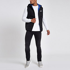 Jack & Jones Originals black puffer vest