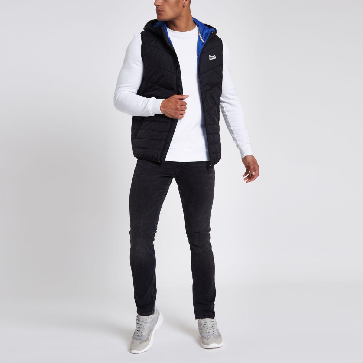 Jack & Jones Originals black puffer vest