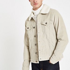 Stone fleece line cord jacket
