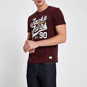 Jack & Jones Originals burgundy T-shirt
