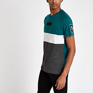 Jack & Jones – T-shirt rayé bleu