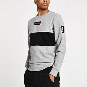 Jack & Jones grey crew neck sweatshirt