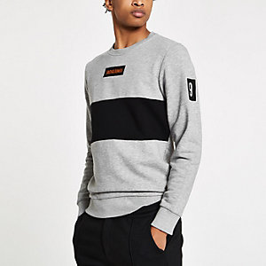 Jack & Jones - Sweat ras-du-cou gris