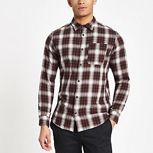 Jack and Jones – Chemise à carreaux rouge
