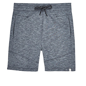Navy drawstring sweatshorts