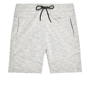 Jack & Jones white drawstring sweatshorts
