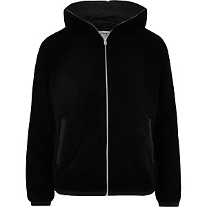Jack & Jones black fleece jacket