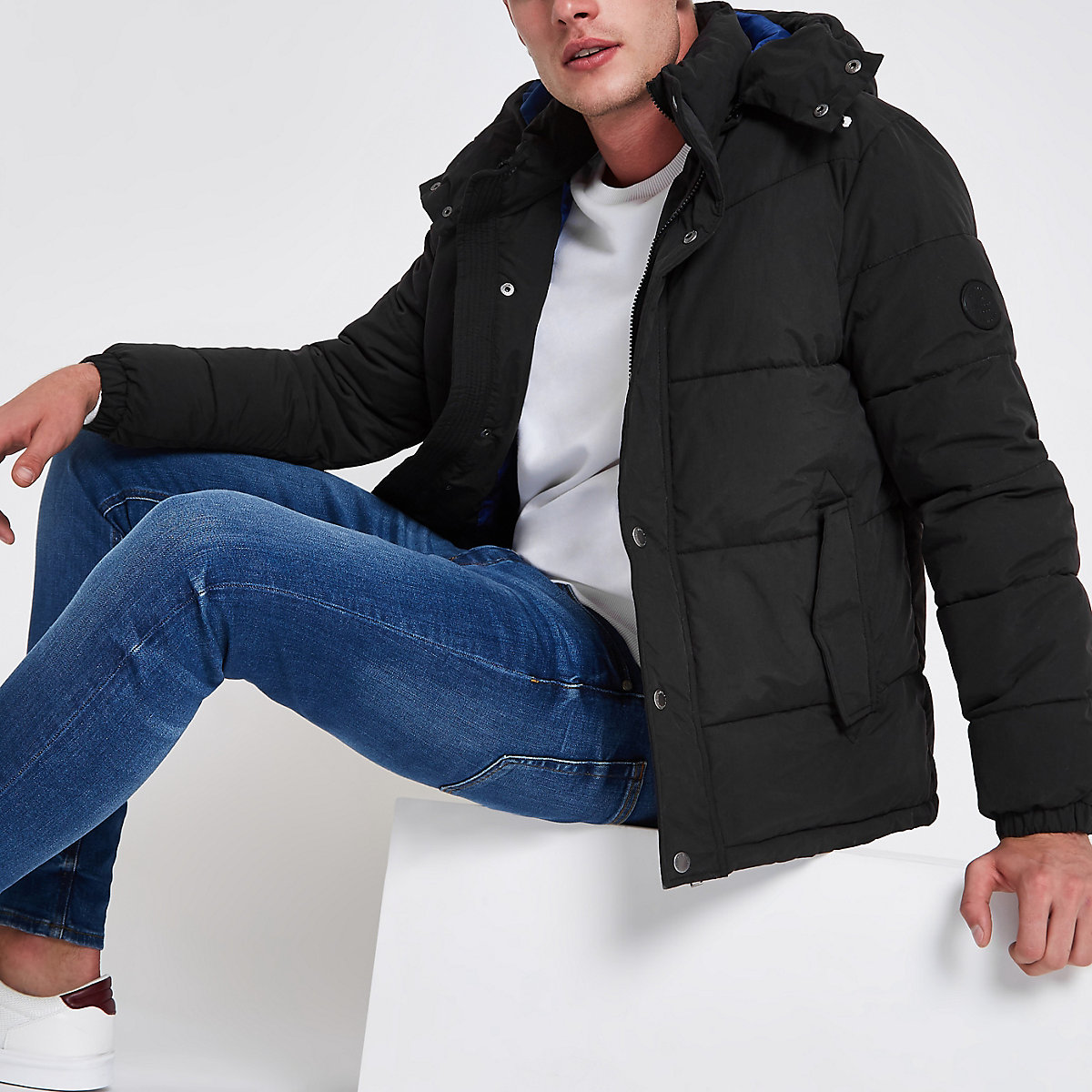 Jack & Jones Originals black puffer jacket