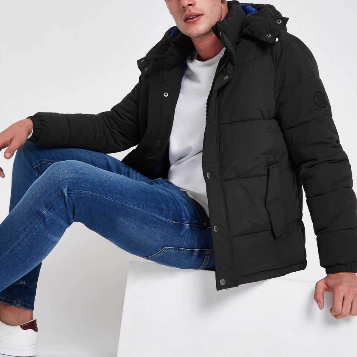 Jack & Jones Originals black puffer jacket
