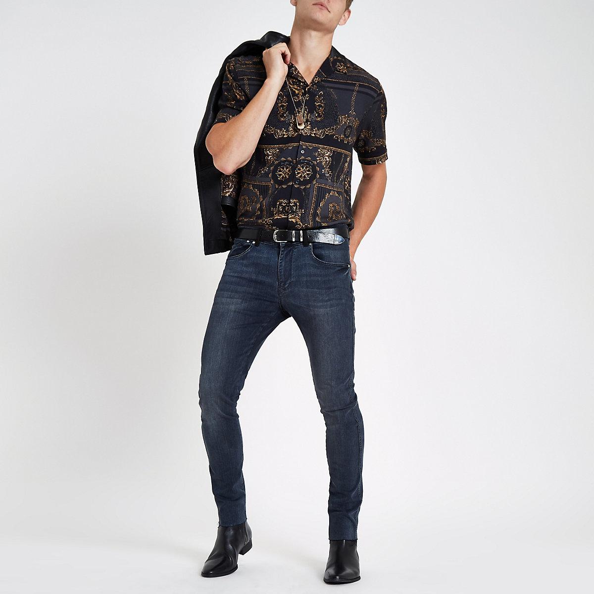 RI 30 dark blue skinny jeans