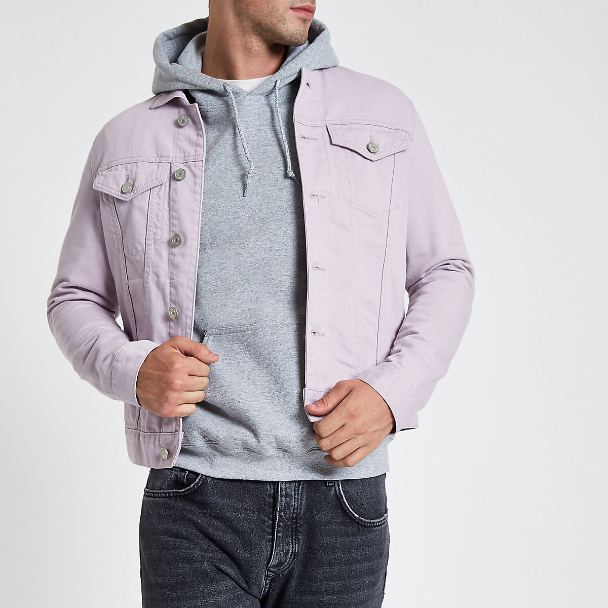 Light purple denim jacket